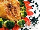 Рецепта Сочни мариновани пилешки гърди с кимион, канела, чесън на прах и бяло вино печени на фурна